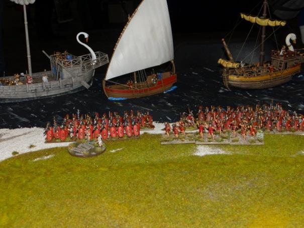 Les Romains débarquent en Britanie.