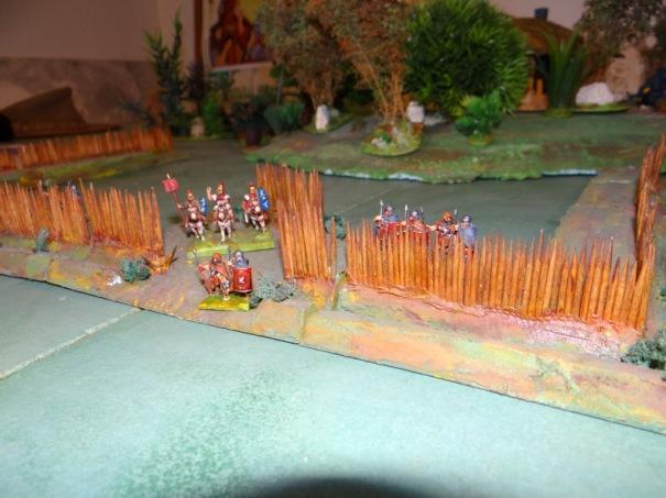 Partie de fort romain pour une campagne en Britanie.