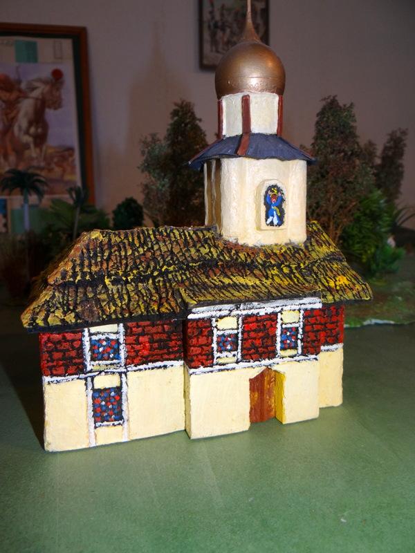 une église façon russe que j'ai réalisée pour du napo 15mm