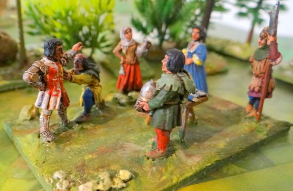 L'habillage du chevalier. Existe aussi, la collecte des taxes et le laboureur.