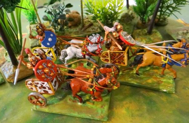 Achille au premier plan. Figs Wargame foundry