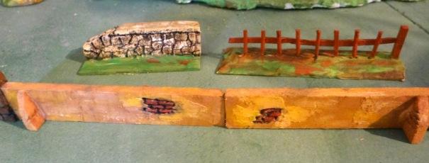 Exemple de murs et barriére