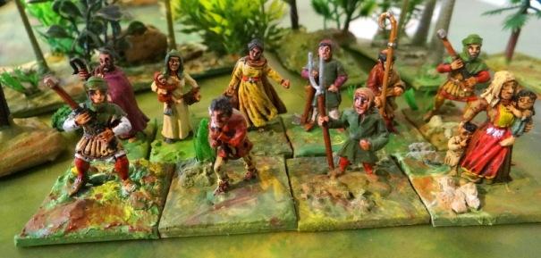 Les paysans. Figs Foundry et méga minis