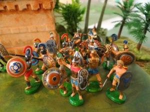 La boite des Grecs mélangée à celle des Troyens.
