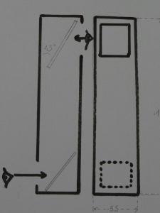 """2 miroirs penchés à 45° placés dans """"un coffre"""" (carré ou rond qu'importe) et l'affaire est faite."""