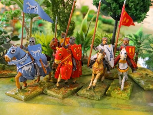 De gauche à droite : Bertrand de Born, Amaury de Hautefort, xxx. de Plagne et le sénéchal de Hautefort.