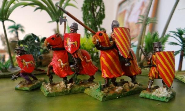 Suite des seigneurs du Périgord Limousin durant les croisades. Voici les seigneurs de Turenne (à rayures) et de Lubersac (le chien).