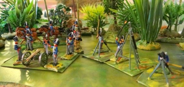 """Les fusées dites  """"à la congrève"""" copiées sur une arme indienne (royaume de Mysore) par l'Anglais Congréve (1804)"""