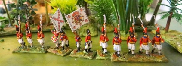 """La milice de Séville qui ressemble à des evzones grecs. (qui veut dire """"belle ceinture"""")"""