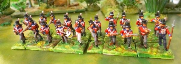 Un bataillon de marins anglais - minifigs
