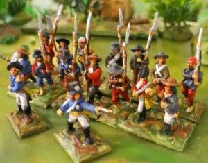 Un bataillon de paysans espagnols (voire Chouans) - figs Touller et warlords games