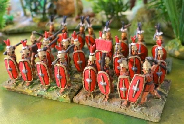 """Lybiens équipés d'armes romaines aprés """"Cannes""""."""
