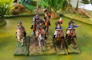 """En premier quelques """"Napo"""". De gauche à droite celui de Minifigs, celui d' AB façon campagne de France puis Bonaparte 1er consul et Bonaparte général."""