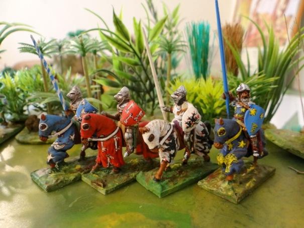 Sir de Laval de Bois Dauphin, Sir de Mareuil, Sir Du Guesclin (un égaré), Sir de Barnabé (Périgueux)