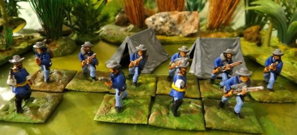 Une escouade d'US infanterie pour Pony war.