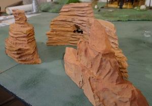 """Death valley  pour """"pony war"""" (une superposition de plaques de polystyrène)"""