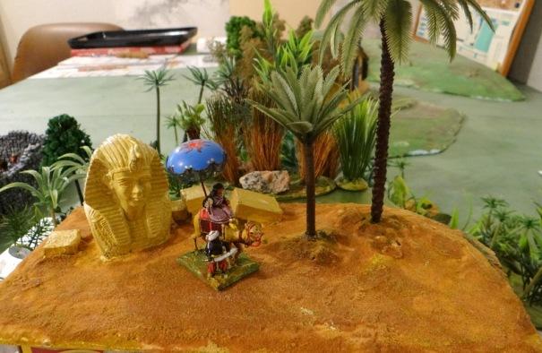 L'oasis ou base pour un camp.