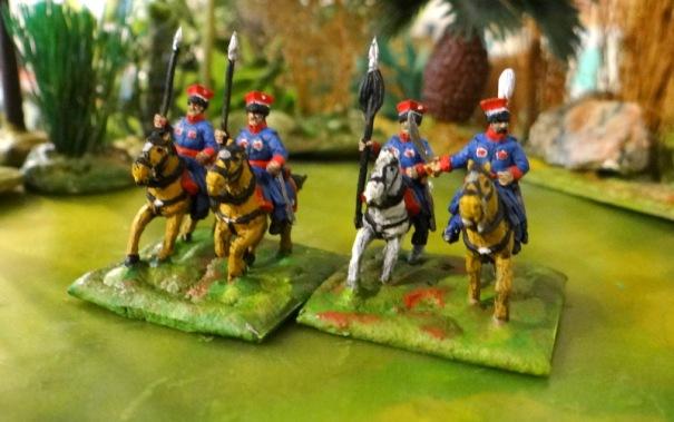 Un escadron de krakus A Touller. Ils sont montés sur de petits chevaux comme à l'époque.