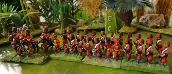 Nizam i jedid soutenu par un escadron de cavalerie du corps