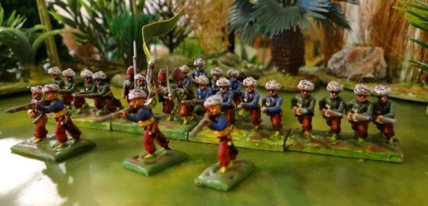 16 ou 18ème orta. Leur drapeau portait un canon car ils marchaient avec l'artillerie.