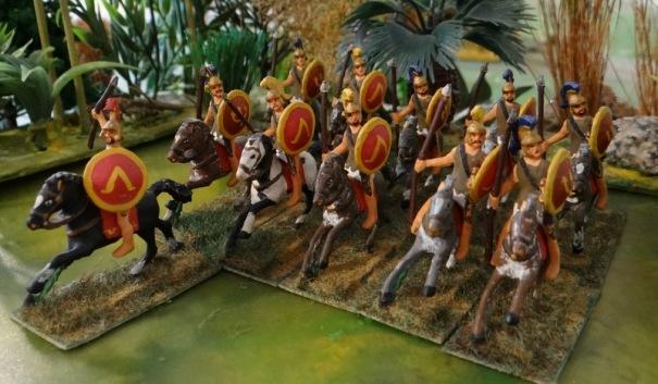Des hoplites montés Garrison wargame