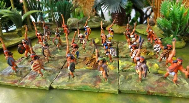 Des skirmishers, ici des frondeurs Minifigs
