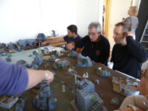 D Rougier de Ribérac toujours à la pointe présente un skirmish maison. La règle est en développement.
