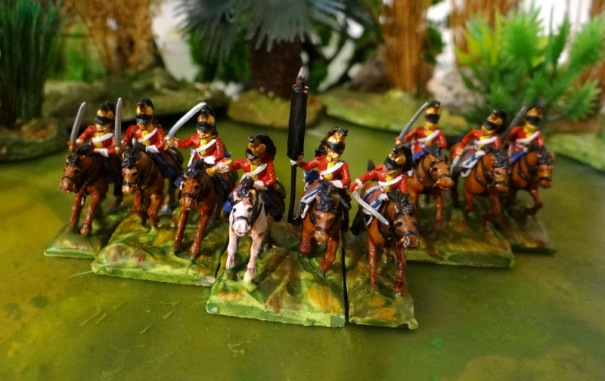 Les dragons lourds :Royal dragoons ou King's dragoons guards. Ils portent le casque à crinière