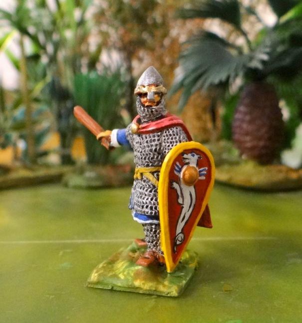 Le Duc à pied. Avec son gourdin il se prend pour Hercule sans doute.