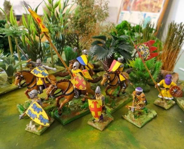 Archambaud de Comborn (D'or à trois lions d'azur, armés et lampassés de gueules) et Rainaud d'Aubusson (d'or à la croix ancrée de gueules)