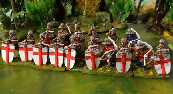 Toujours en CDD, les génois. Ces arbalétriers se sont faits piétiner par la chevalerie française pressée à Crécy.