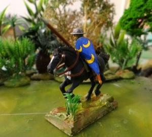 Un cavalier médiéval breton. En effet le transfert LBM du bouclier caractérise plusieurs maisons de Bretagne et Normandie.