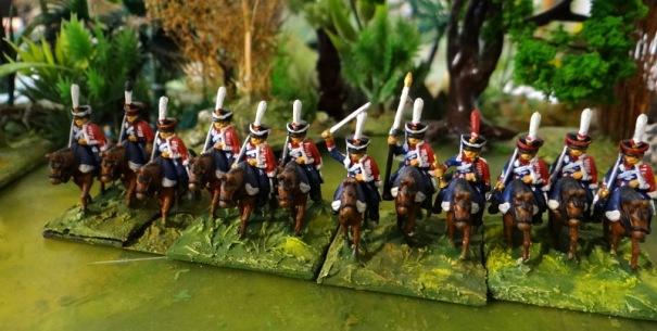Les hussards d'Isioum aux dolmans rouges en 1805