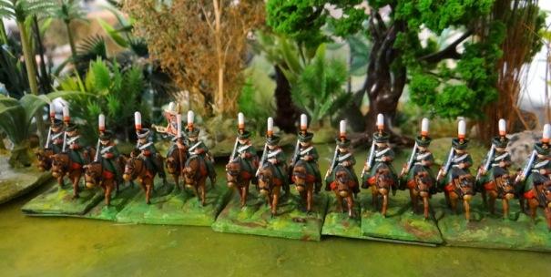 Les chasseurs de Livolie (distinctives rouges)