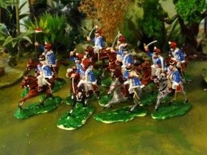Les hussards anglais.