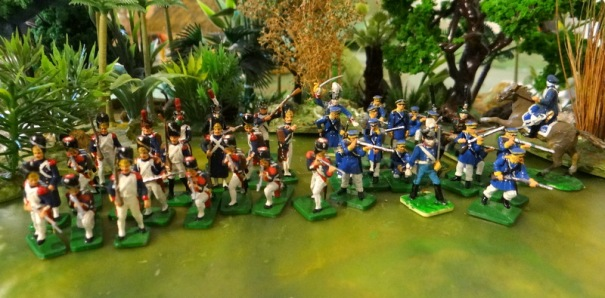 La garde française et les Prussiens qui arrivèrent plus tard. Je le vois à mon coup de pinceau !