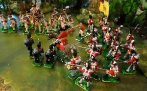 La ligne anglaise, revue en rifles au centre