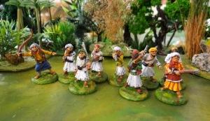 Les Zanzibaris sont de religion islamique et porte le drôle de poignard courbe que l'on retrouve chez les Yéménites.