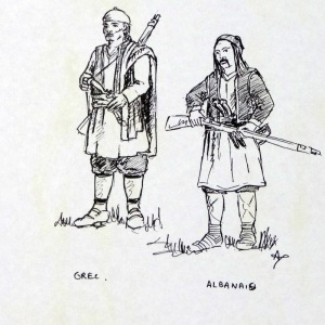 Encore deux dessins originaux signés A Touller - Les auxiliaires ottomans.