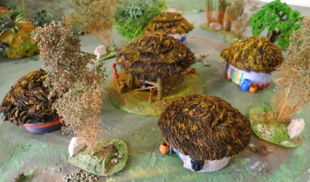 Le village fortement inspiré des modèles proposés par la règle.