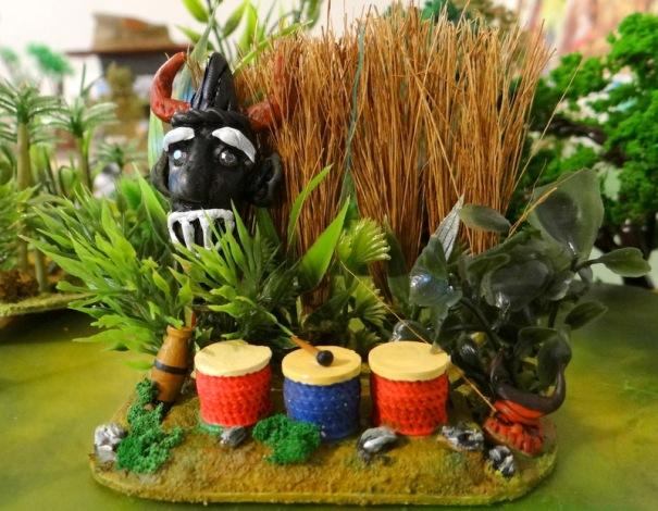 """Voila ma version de """"découverte de tamtams"""" dans la jungle toujours pour Congo."""