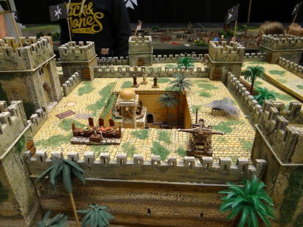 Vue intérieure de la forteresse