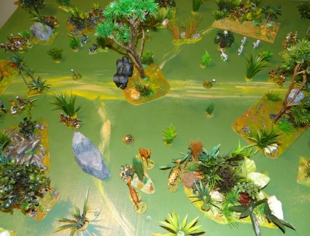 Une vue aérienne nous montre l'emplacement des protagonistes.