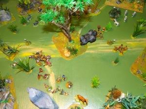 Furieux Kong charge Von Roultaboss. Les hommes du Kaiser sont balayés mais voyant l'état du dieux singe, le groupe d'archer Bambelé l'achève d'un tir. L'esprit de Kong restera ainsi dans sa jungle quoiqu'il arrive.