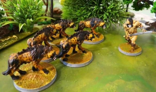 Les hyènes et Conan (visage à reprendre)