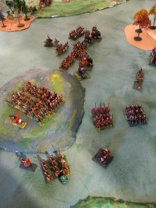 La stratégie carthaginoise taper au centre
