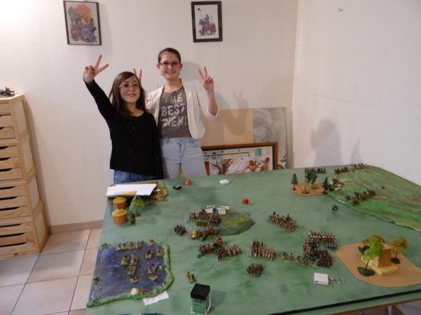 Les généraux puniques savourent la victoire.