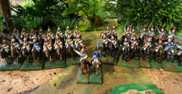 Defrance J. Marie à la tête de la brigade des carabiniers en 1811. 2 régiments cuirassés depuis 1809