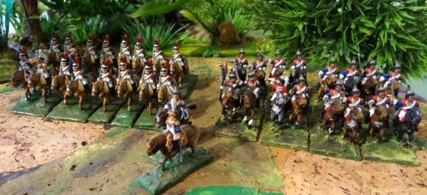 2éme brigade composée des 1er et 4ème cuirs qui associée aux carabiniers forme le 2éme corps de cavalerie lourde sous Montbrun lors de la campagne de Russie